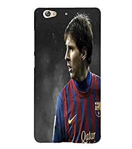 For Gionee S6 Football, Black, Game Pattern, Football Player in Action, Printed Designer Back Case Cover By CHAPLOOS
