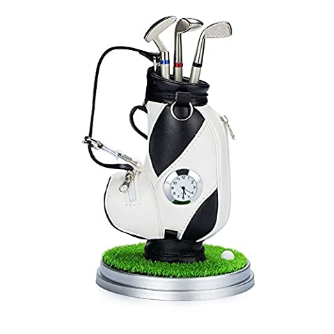 Crestgolf gift set White Gadget Desktop Golf Bag , Novelty