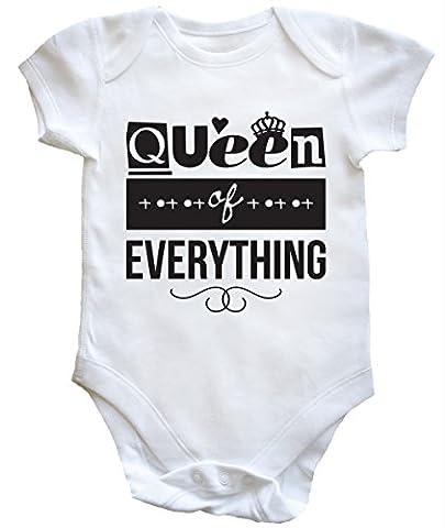 HippoWarehouse Queen Of Everything baby vest boys girls