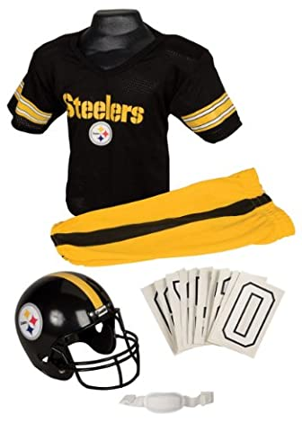 Franklin Sports garçons NFL Steelers uniforme Déguisement, Black,Yellow, Taille