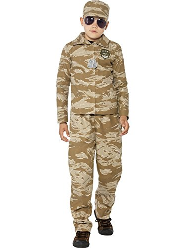 Jungen Armee Soldat Kostüm Alle Größen (Armee Commando Kind Kostüme)