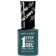 Wet n Wild Un-Teal Next Time 1 Step Wonder Gel Nail Color Esmalte para las Uñas - 7 ml