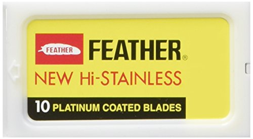Feather Hi Stainless Double Edge Rasierklingen, 30 Stück (10 Blades Feather Razor)