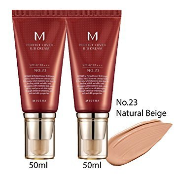 MISSHA M PERFECT COVER BB CREAM TWO(2) TUBES 50ml (No.23 / NATURAL BEIGE) by MISSHA