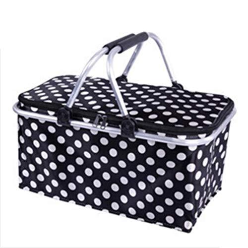 Panier de Pique-Nique Portable en Plein air, boîte de Livraison à emporter Pliable épaisse, Sac à Lunch, Sac réfrigéré, Sac à Lait au Dos, Sac à Pique-Nique