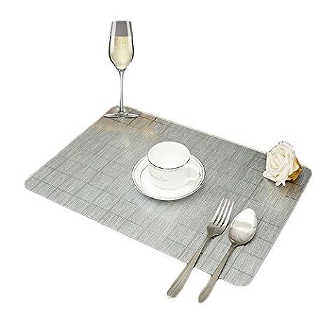 Wasserdicht und Öl-Proof PVC Metall Zeichnen Tisch-Sets rutschfeste Wärmedämmung 1Platzset
