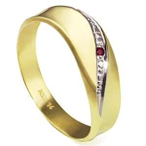 Goldmaid Damen-Ring Bicolor Gold 333 1 RubinLinieGr. 62 Pr R797GG62