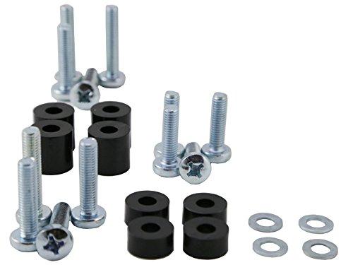 MonLines MO-05669437 Schraubenset, Metall, silber, 4 x 0,5 x 0,5 cm Weiß/schwarz