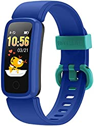 BIGGERFIVE Vigor Pulsera Actividad Inteligente Reloj Inteligente para Niños Niñas Mujer, Impermeable IP68 Depo