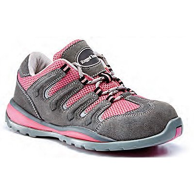 Women's Pink Suede Safety Trainers - Choice of Sizes Available (Size 6) - Ref SFW12/06