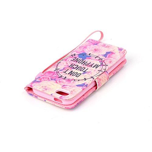 Hülle für Apple iPhone 5 5S SE - Yihya PU Leder Schutzhülle Handyhülle Magnetic Closure Style Flip Wallet [Stand Function] Cover Case mit Cards Slots und Lanyard Strap + Stylus Pen--Stil 09 Stil 31