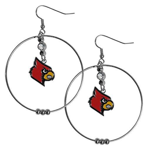 NCAA Louisville Cardinals 2 inch Hoop Earrings