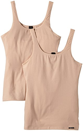 Underwear Cotton Womens Pack (Skiny Damen Unterhemd 2-er Pack,NA, 1147 / Advantage Cotton Women Da. Tank Top DP, Gr. 38 (38), Hautfarben (SKIN 9622))