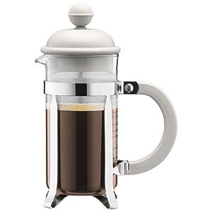 BODUM Caffettiera 3 Cup French Press Coffee Maker, White, 0.35 l, 12 oz