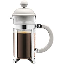 Bodum 1913-913 CAFFETTIERA Kaffeebereiter (French Press System, Permanent Edelstahlfilter, 0,35 liters) cremefarben