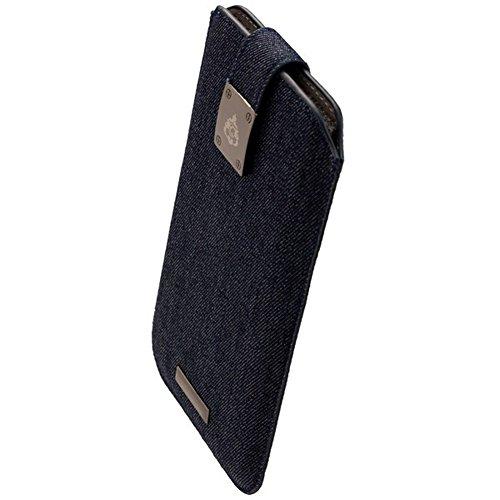 Commander Premium Tasche Milano XXL5.2 - Jeans Lizenzprodukt + Reinigungstuch iMoBi (S5 Skin Active Für Galaxy)
