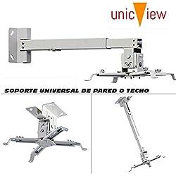 Soporte de techo para proyector, color blanco [España]
