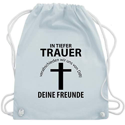 Tasche Alkohol Kostüm - JGA Junggesellenabschied - In tiefer Trauer - Unisize - Pastell Blau - WM110 - Turnbeutel & Gym Bag