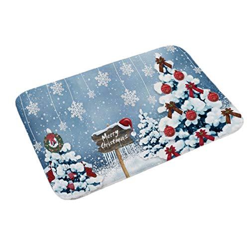 Xiaoyamyi - Felpudo navideño para Interiores