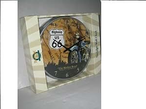 Route 66 Map Horloge murale pour vélo