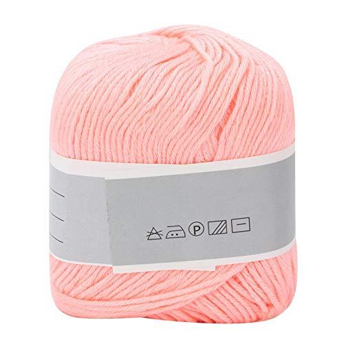 Beliebte Bunte Hand Stricken Milchfaden Dicke Weiche Baby Baumwolle Linie Acrylfaser Manuelle Weberei (Hellrosa) -