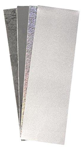 RAYHER 31439000 Wachsfolie, 20 x 6,5 cm, 4 Farben sortiert, SB-Beutel 4 Stück, silber-Töne