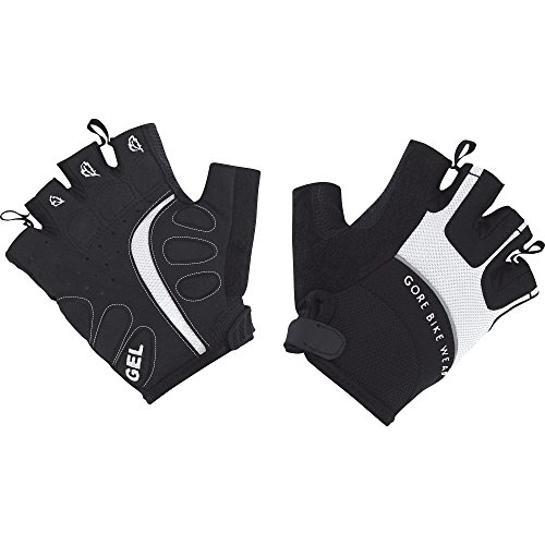 Gore Bike Wear Damen, Kurze Rennrad-Handschuhe, Power, white/black, Gr. 4, GPOWEA019904 (Handschuhe Asics Running)