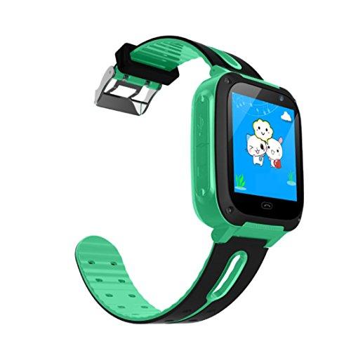 EARS Kinder Smart Watch Anti-verlorene GPS Positionierung BT Handgelenk für Android Telefon Uhr Studenten Erwachsene wasserdichte Smartphone Karten Männer und Frauen Sport Multifunktions (Grün) (Kinder Kleid Bt)