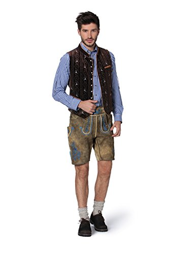 Stockerpoint - Herren Trachten Weste in verschiedenen Farbtönen, Antonio, Größe:48;Farbe:Braun