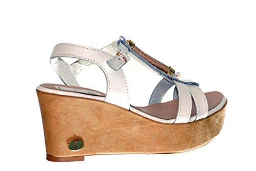 Sandale mit Keilabsatz aus Kork Ripa Bianco