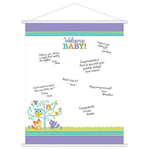 amscan 27145248x 60cm Woodland Welcome Sign-in-Sheet Board