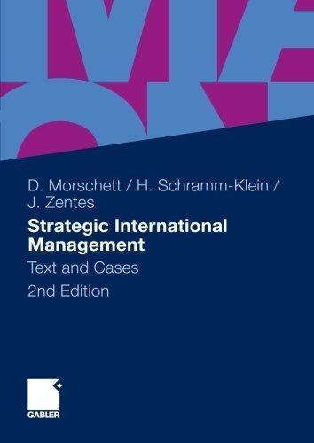 Strategic International Management: Text and Cases by Dirk Morschett (2010-09-14)