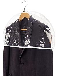 Hangerworld Lot de 20 housses couvre-épaules imperméables à soufflet Transparent
