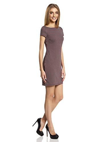 ... oodji Ultra Damen Jerseykleid mit Druck Rot (4912G) ...