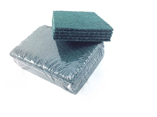 50-large-6-x-9-heavy-duty-industrial-catering-grade-green-scouring-pads