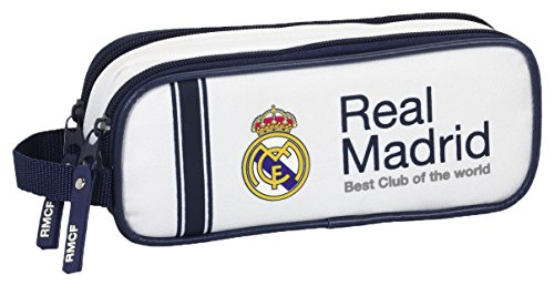 Real Madrid FC 811654513 Official 2016/17 Season Home Strip Double Pouch Pencil Case
