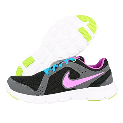 Nike Flex Experience 599344-401 Mädchen Laufschuhe Schwarz / Rot / Blau / Grün (Schwarz / Rot Violett-VVD Bl-Vlt Ic)