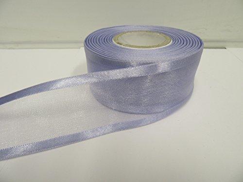 2m x 40mm ORGANZA mit Rändern aus Band, Lavendel, Lila, Violett, doppelseitig, Satin Edge, 40mm (Satin-band Lavendel Doppelseitiges)