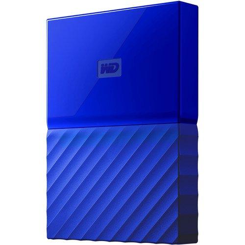 Mobile 1 TB-Festplatte WD My Passport WDBYNN0010BBL-WESN (blau), mit Kennwortschutz u. Software für autom. Datensicherung