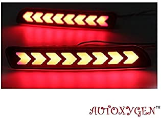 Autoxygen Bumper Rear Reflector DRL_4 Maruti Suzuki Baleno/Breeza/Ciaz/Ertiga/New Swift Dzire/Scross/Ritz/SX4 - Set of 2 Pcs