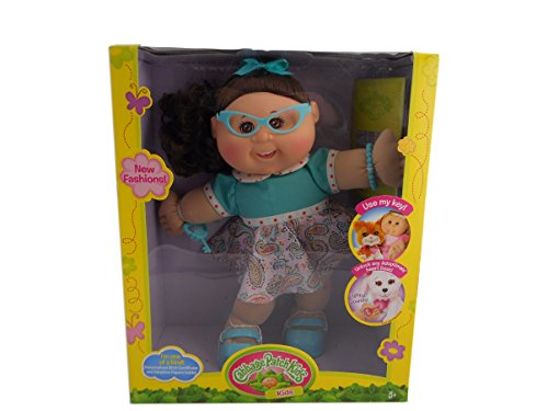 """Cabbage Patch Kids 14"""" Adopitmals Doll Glasses Vintage Girl"""