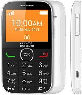 Alcatel 2004 C - Teléfono libre (8 MB de RAM, 16 MB de memoria interna) color blanco