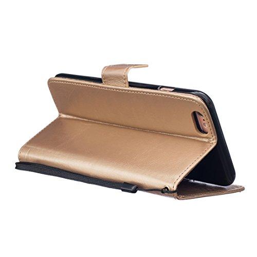 ANNN® Apple Iphone 6/6S Coque Embossing pissenlit PU Cuir Flip Housse Étui Cover Case Wallet Stand avec Carte de Crédit Fentes + Quill stylet + Pendentif poisson--A03 A05