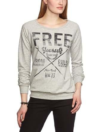 VERO MODA Damen Sweatshirt 10099141 ROYAL L/S SWEAT MIX NFS, Gr. 34 (XS), Grau (Light Grey Melange)