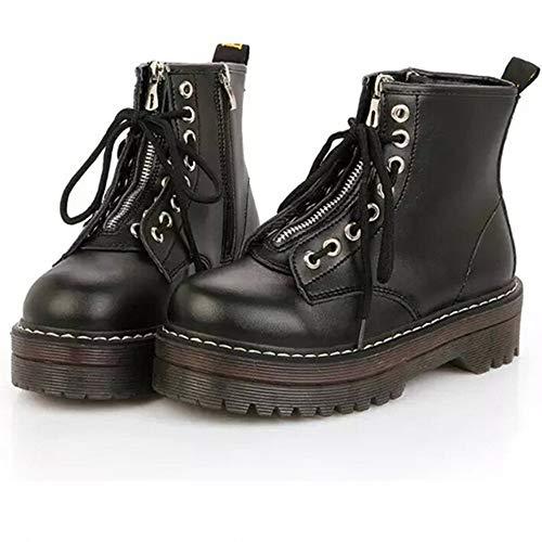 Botas Mujer Planas,Naturazy Moda Invierno Zapatos Antideslizante Impermeable Boots Botines Botas De Nieve para Mujer Negro Vino Amarillo 35-40