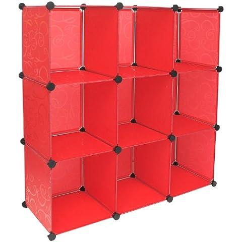 TS Ideen 5186 plataforma para el compromiso con 9 compartimentos Oficina, Pasillo, Casa de Niños, Rojas