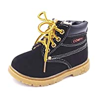 Kids Snow Boots Shoes for Girls Boys Warm Non-Slip Boots Soft Bottom Baby Girls Boot 25 Autumn Winter Child Boots Shoe Waterproof
