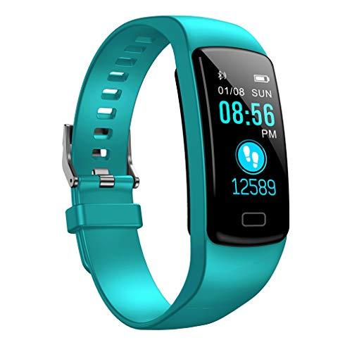 Smart Watch,Janly Blutdruck Stopp Uhr Monitor Fitness Tracker Heart Rate Sport Armband (Mintgrün)