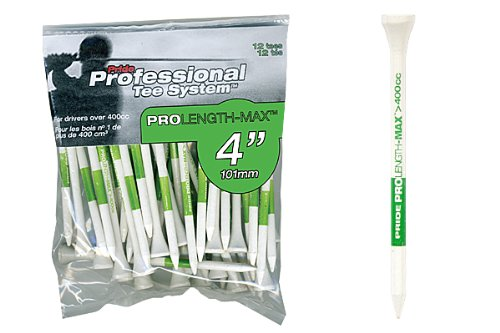 Pride Professional Golf Tee System 100mm Pro LENG TH-MAX Tees 50St Grün -