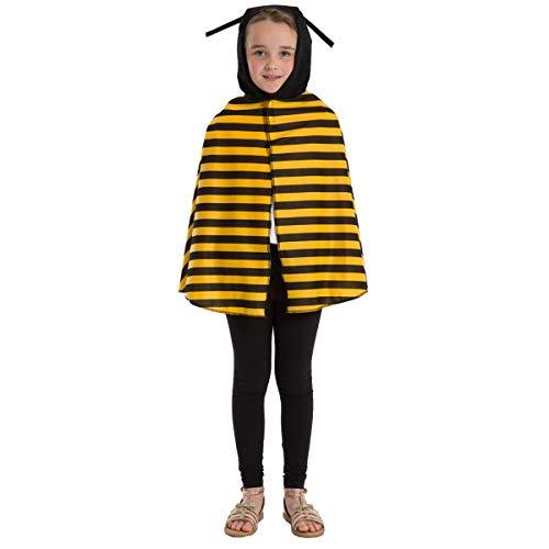 Jugendliche Für Kostüm Biene - Unbekannt Charlie Crow Biene / Wespe umhang Kostüm Für Kinder - Einheitsgröße 3-8 Jahre.